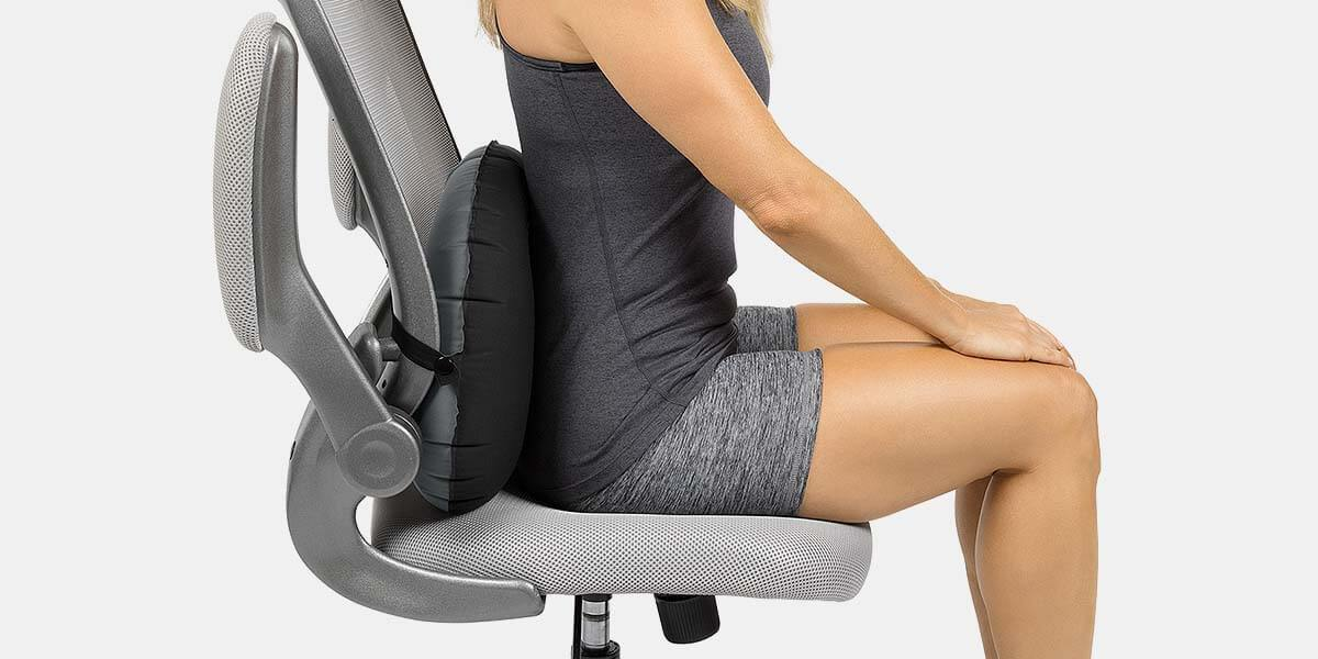 Mesh Ergonomic Lumbar Back Support For Home Office Chair Car Van Seat Back Rest